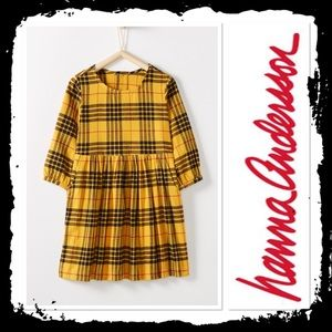Hanna Andersson Festival Flannel Dress Yellow